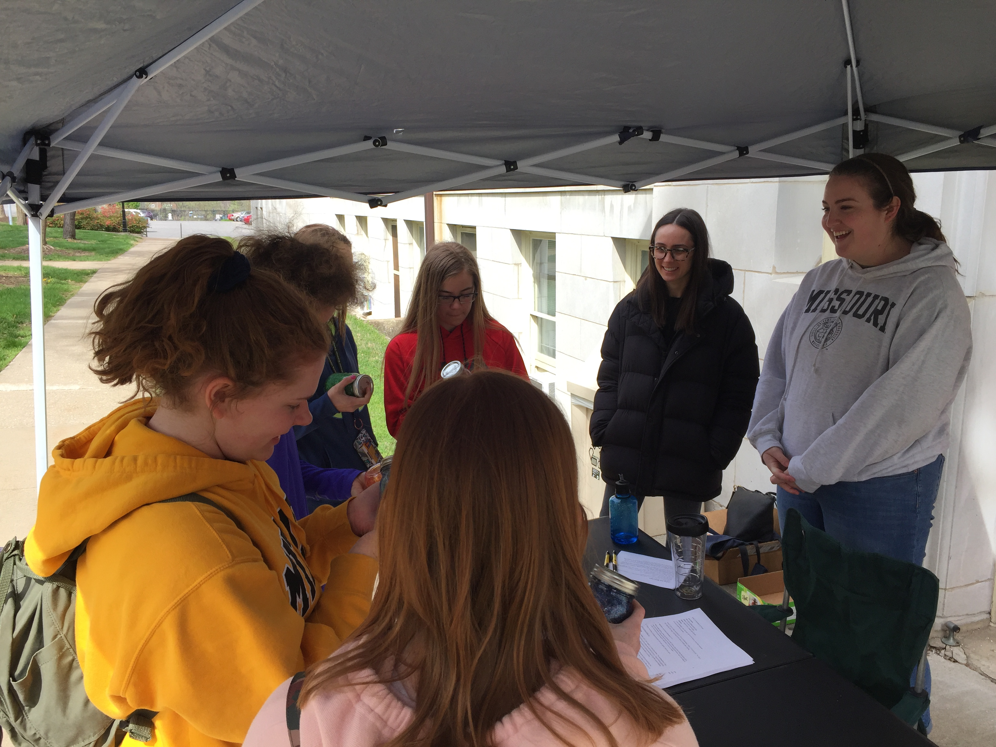 Genevieve and Lindsey help at Show Me Mizzou Day