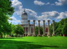The Columns at the University of Missouri by Don J Schulte