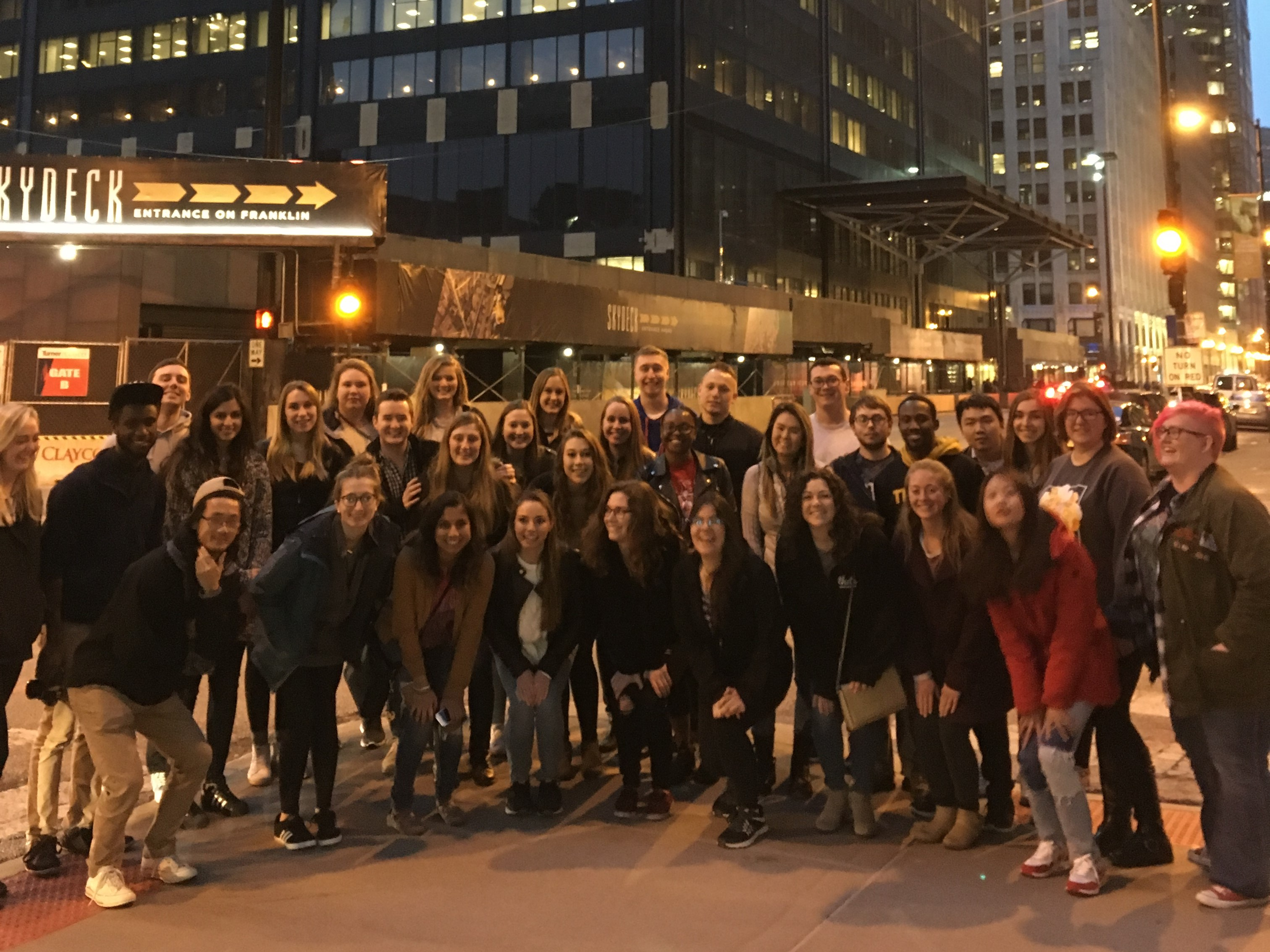 Honors Research Capstone students in Chicago for the 2018 Midwestern Psychological Association meeting
